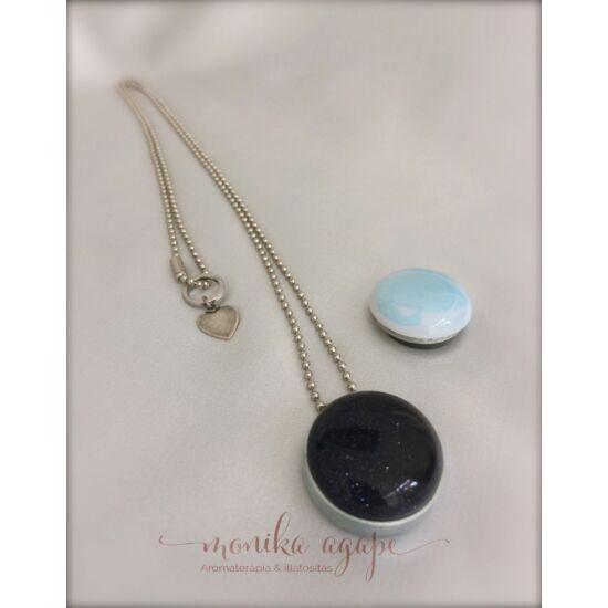 Aromamedál Opál goldstone kék